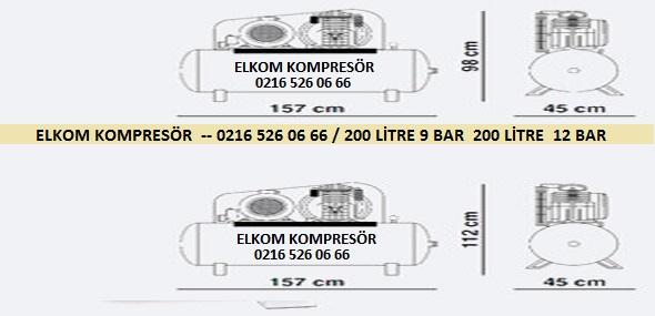 100 litre kompresör teknik resim