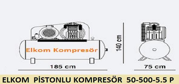500 litre kompresör teknik çizim